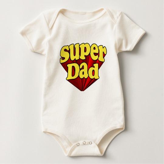 Super Dad Baby American Apparel Organic Bodysuit