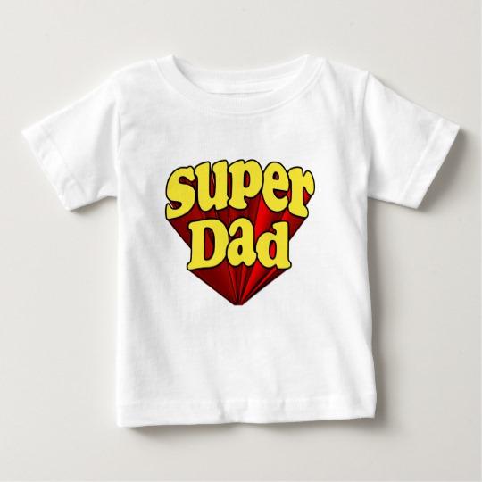 Super Dad Baby Fine Jersey T-Shirt