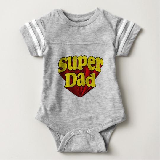 Super Dad Baby Football Bodysuit