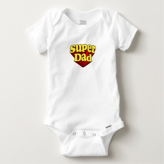 Super Dad Baby Gerber Cotton Onesie