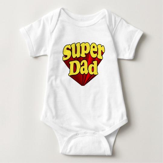 Super Dad Baby Jersey Bodysuit