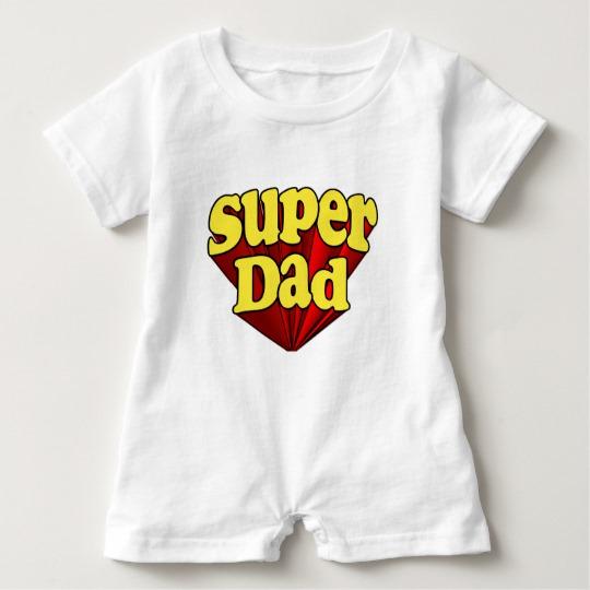 Super Dad Baby Romper