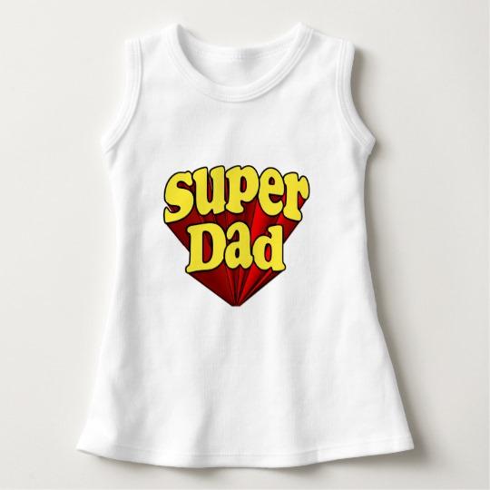 Super Dad Baby Sleeveless Dress