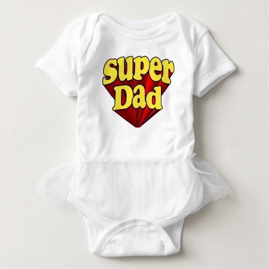 Super Dad Baby Tutu Bodysuit