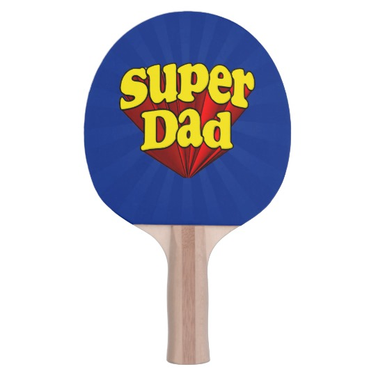 Super Dad Black Rubber Back Ping Pong Paddle