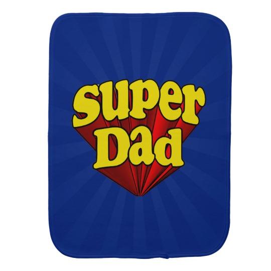 Super Dad Burp Cloth