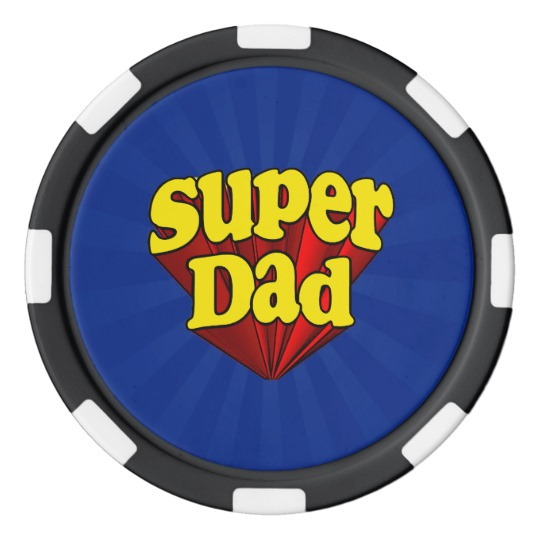 Super Dad Clay Poker Chips