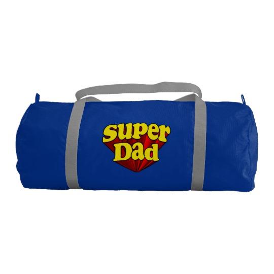 Super Dad Duffle Gym Bag