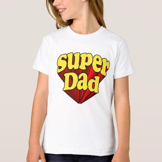 Super Dad Girls' American Apparel Organic T-Shirt