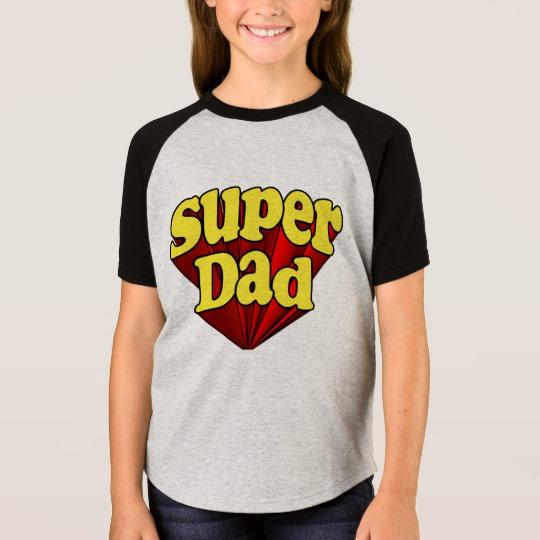 Super Dad Girls' Short Sleeve Raglan T-Shirt