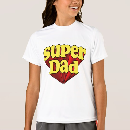 Super Dad Girls' Sport-Tek Competitor T-Shirt