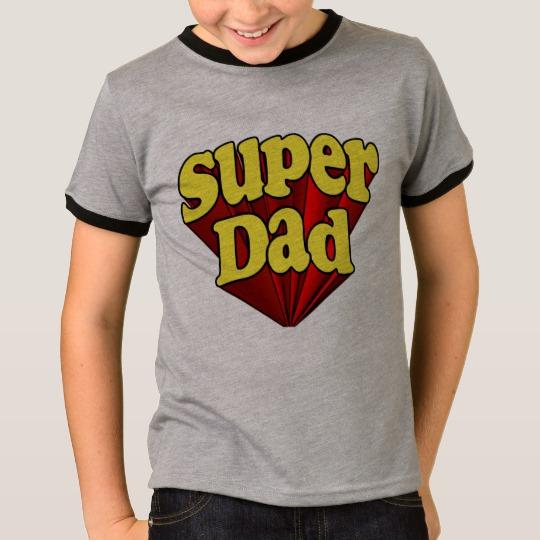 Super Dad Kids' Basic Ringer T-Shirt