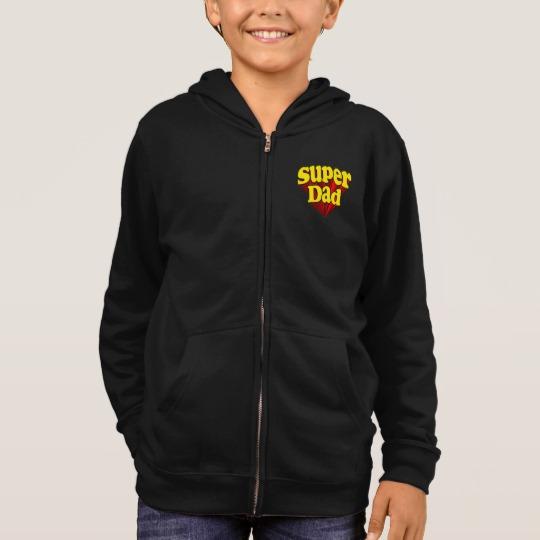 Super Dad Kids' Basic Zip Hoodie