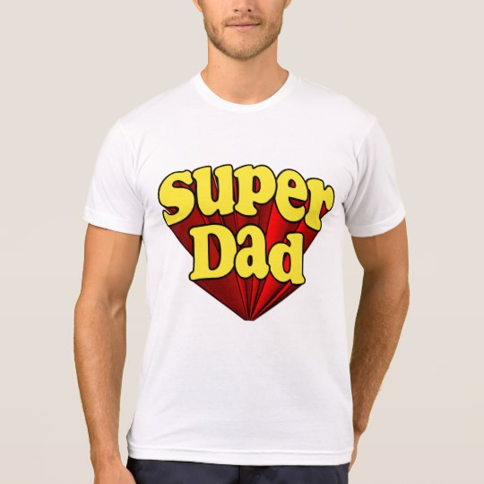 Super Dad Men's American Apparel Poly-Cotton Blend T-Shirt