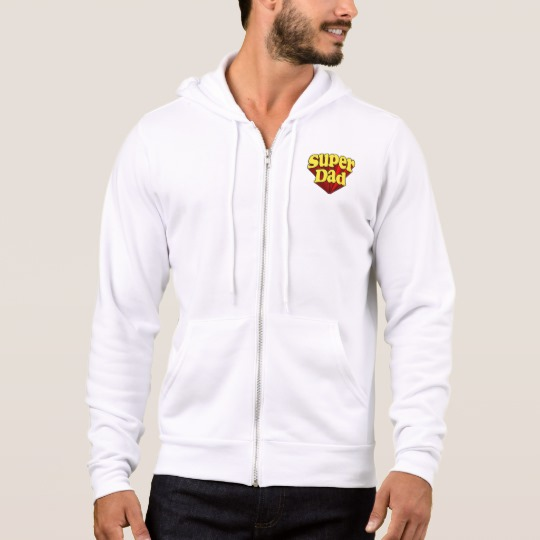 Super Dad Men's Bella+Canvas Full-Zip Hoodie