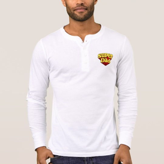 Super Dad Men's Bella+Canvas Henley Long Sleeve Shirt