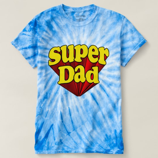Super Dad Men's Cyclone Tie-Dye T-Shirt