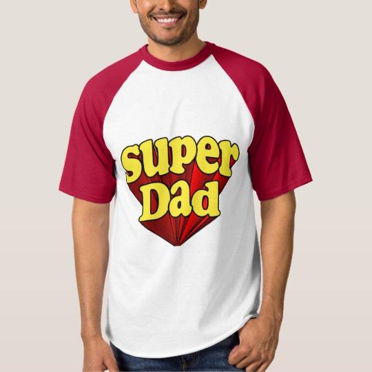 Super Dad Men's Raglan Baseball T-Shirt