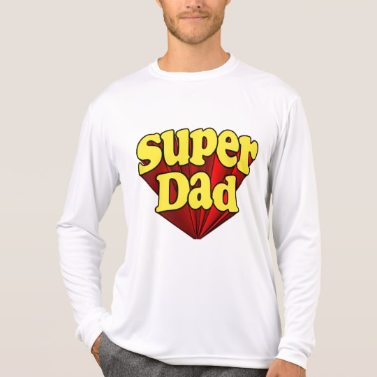 Super Dad Men's Sport-Tek Competitor Long Sleeve T-Shirt
