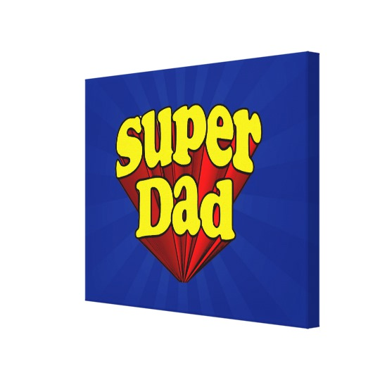 Super Dad Premium Wrapped Canvas (Gloss)