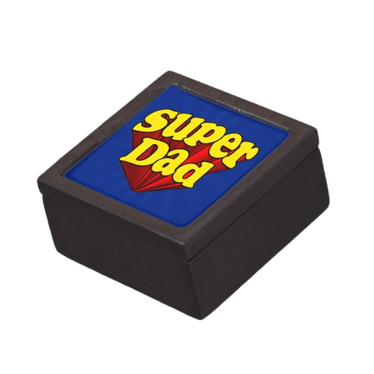 "Super Dad Small (2"" x 2"") Gift Box"