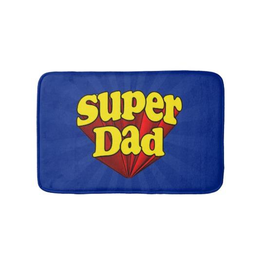 Super Dad Small Bath Mat
