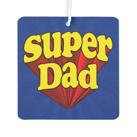 Super Dad Square Air Freshener