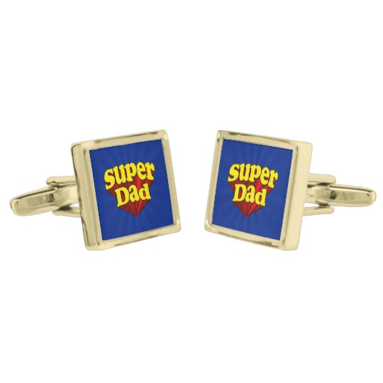 Super Dad Square Cufflinks