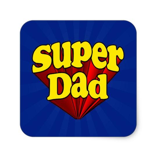 Super Dad Square Stickers