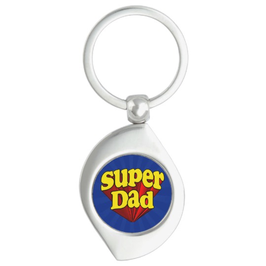 Super Dad Swirl Keychain