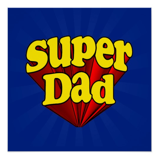Super Dad The Zazzle Perfect Poster (Glossy Finish)