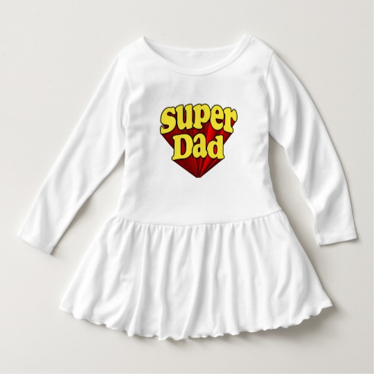 Super Dad Toddler Ruffle Dress