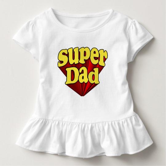 Super Dad Toddler Ruffle Tee