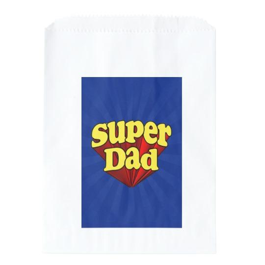 Super Dad White Favor Bags