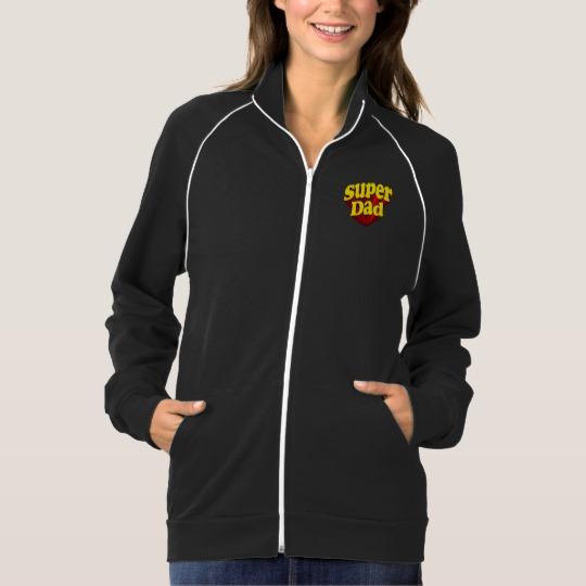 Super Dad Women's American Apparel California Fleece Track Jacket