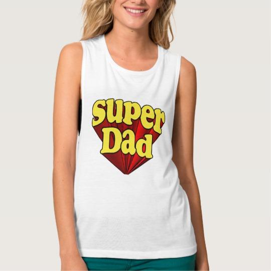 Super Dad Women's Bella+Canvas Flowy Muscle Tank Top