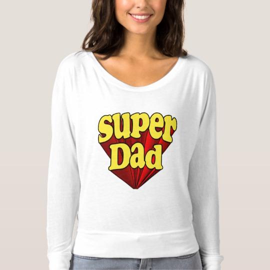 Super Dad Women's Bella+Canvas Flowy Off Shoulder Shirt