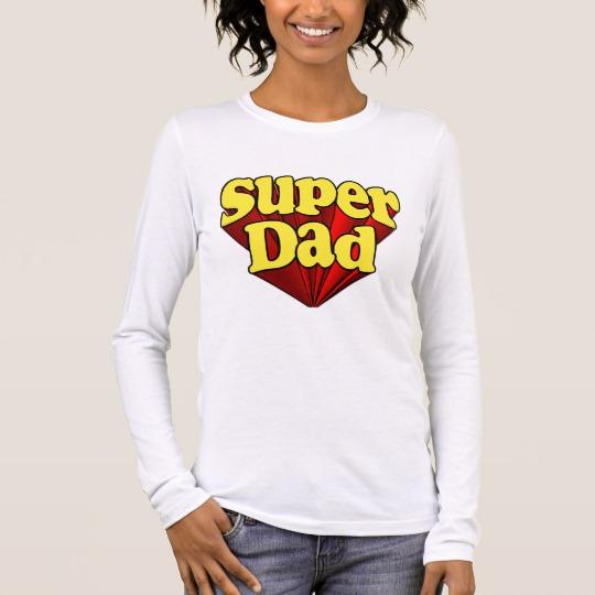 Super Dad Women's Bella+Canvas Long Sleeve T-Shirt