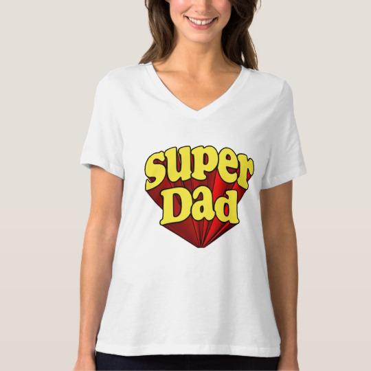 Super Dad Women's Bella+Canvas Relaxed Fit V-Neck T-Shirt