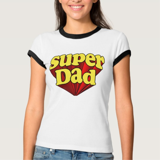 Super Dad Women's Bella+Canvas Ringer T-Shirt