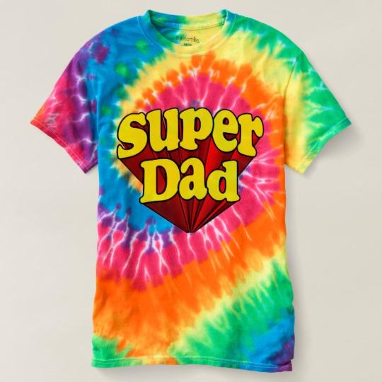 Super Dad Women's Spiral Tie-Dye T-Shirt