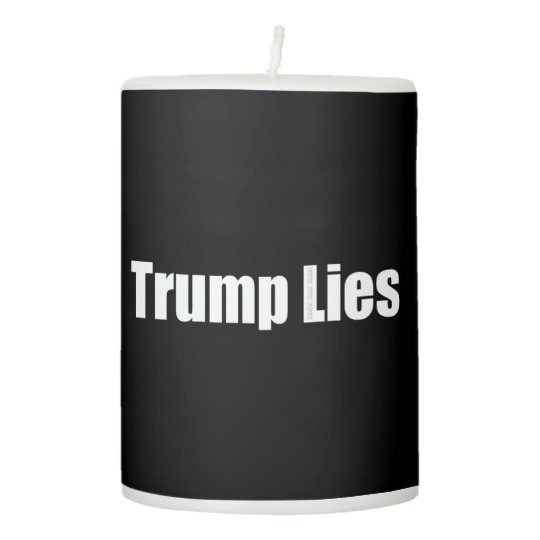 "Trump Lies 3"" x 4"" Pillar Candle"