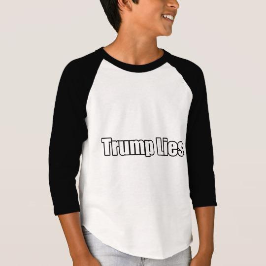 Trump Lies Boys' American Apparel 3/4 Sleeve Raglan T-Shirt