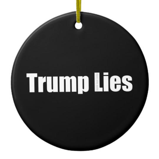 Trump Lies Circle Ornament