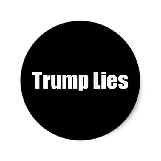 Trump Lies Classic Round Sticker