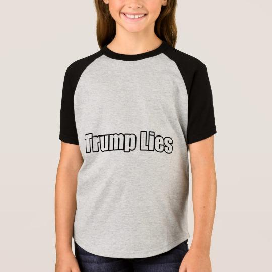 Trump Lies Girls' Short Sleeve Raglan T-Shirt