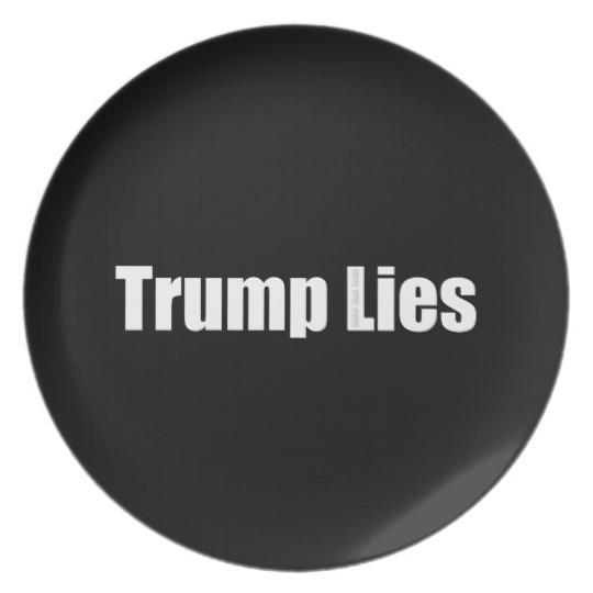 Trump Lies Melamine Plate