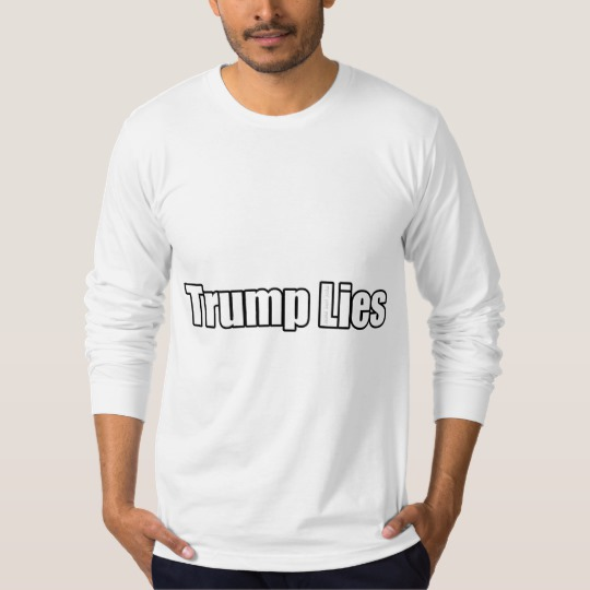 Trump Lies Men's American Apparel Fine Jersey Long Sleeve T-Shirt