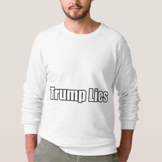 Trump Lies Men's American Apparel Raglan Sweatshirt