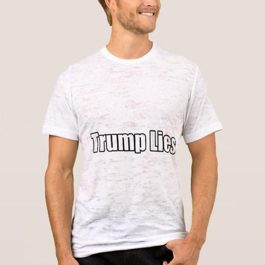 Trump Lies Men's Canvas Fitted Burnout T-Shirt